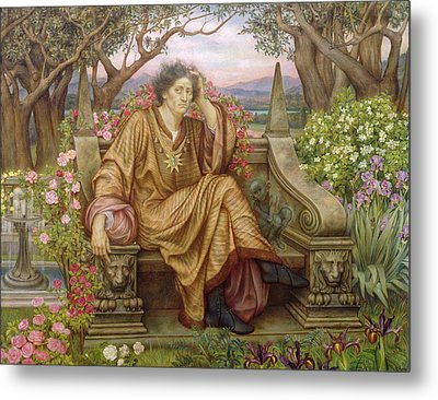 A Soul In Hell Metal Print by Evelyn De Morgan