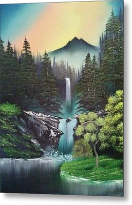 A Special Mountain Spot Metal Print by Lee Bowman