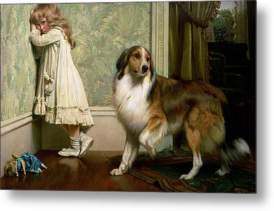 A Special Pleader Metal Print by Charles Burton Barber