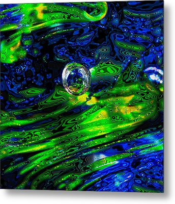 A Splash Of Seahawks Metal Print