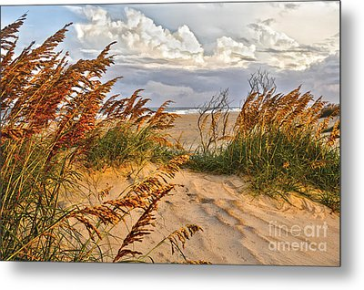 A Splendid Day At The Beach - Outer Banks Metal Print by Dan Carmichael