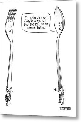 A Spoon Talks To A Fork Metal Print