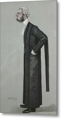 A Sporting Lawyer, Form Vanity Fair, 17th March 1898 Colour Litho Metal Print by Leslie Mathew Ward
