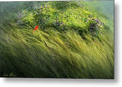 Metal Print featuring the digital art A Spot Of Red by Aaron Blaise