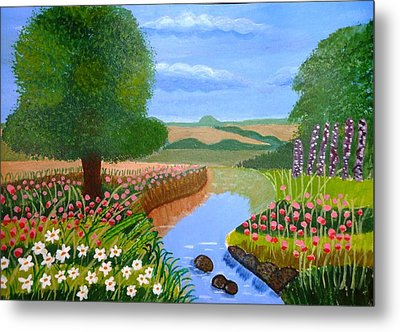 A Spring Stream Metal Print by Magdalena Frohnsdorff