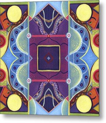 A Square Mandala - The Joy Of Design Xl Arrangement Metal Print