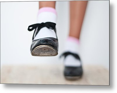 Old Tap Dance Shoes From Dance Academy - A Step Forward Tap Dance Metal Print