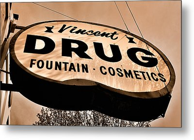 A Store For Everyone - Vintage Pharmacy Sign Metal Print