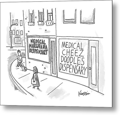 A Storefront Medical Marijuana Dispensary Metal Print