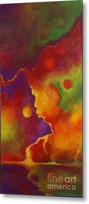 Metal Print featuring the painting A Storm Called Jimi by Alison Caltrider
