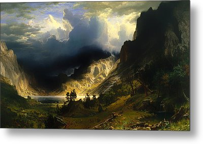 A Storm In The Rocky Mountains Metal Print by Mountain Dreams
