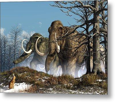 A Storm Of Mammoths  Metal Print by Daniel Eskridge