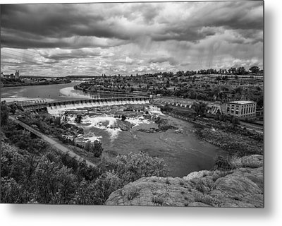 A Stormy Afternoon In Great Falls Montana Metal Print