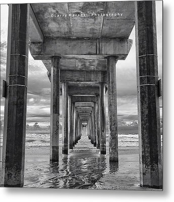 A Stormy Day In San Diego At The Metal Print by Larry Marshall