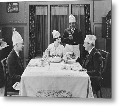 A Strange Birthday Party Scene Metal Print by Underwood Archives