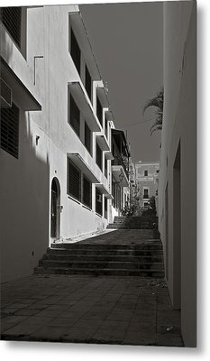 A Street With No Name  Metal Print