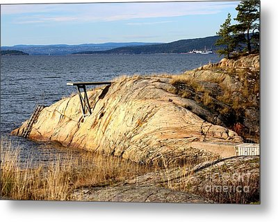 A Summer Day By The Oslo Fjord Metal Print