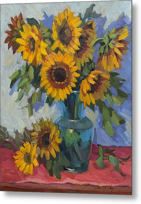 A Sunflower Day Metal Print by Diane McClary