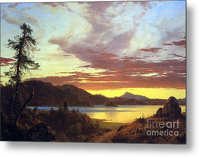 A Sunset By Frederick Edwin Church Metal Print