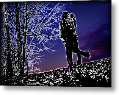 A Sunset Embrace Metal Print by Brian Archer