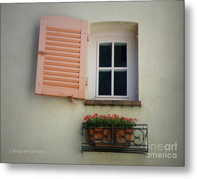 A Sweet Shuttered Window Metal Print by Lainie Wrightson