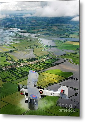 Metal Print featuring the photograph A Swordfish Aircraft With The Royal Navy Historic Flight. by Paul Fearn