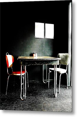 A Table For Two Metal Print by Steve Taylor