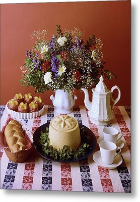 A Table Of Pastries Metal Print by Mary Faulconer