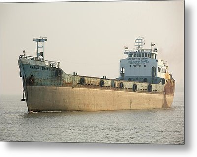 A Tanker In The Sunderbans Metal Print by Ashley Cooper
