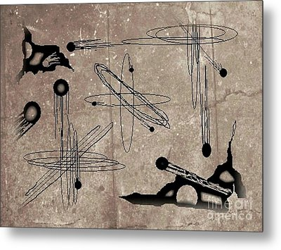 A Tare In The Map Metal Print