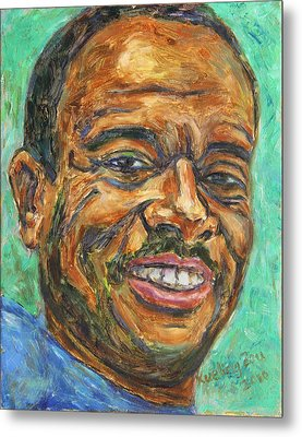 Metal Print featuring the painting A Teacher From Atlanta Ga by Xueling Zou