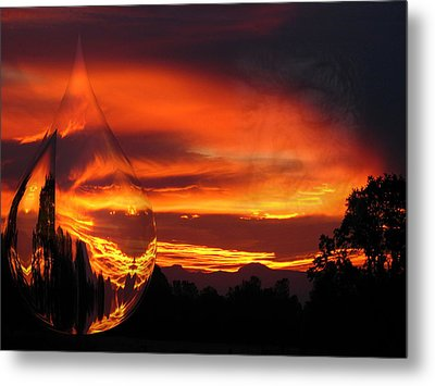 Metal Print featuring the digital art A Teardrop In Time by Joyce Dickens