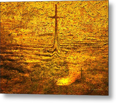Metal Print featuring the digital art A Time To Ruminate by J Larry Walker