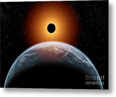 A Total Eclipse Of The Sun As Seen Metal Print
