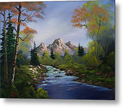A Touch Of Autumn Metal Print by C Steele