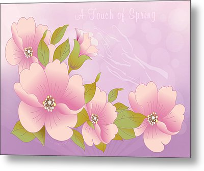A Touch Of Spring Metal Print by Gayle Odsather