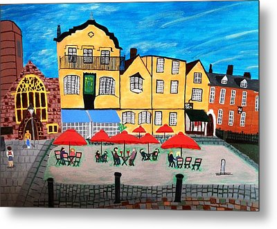 A Town Square On A Clear Day Metal Print by Magdalena Frohnsdorff