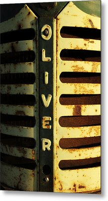 A Tractor Named Oliver Metal Print