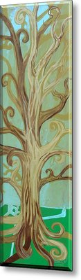 A Tree In Paris Metal Print by Genevieve Esson