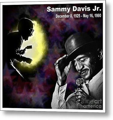 A Tribute To Sammy David Jr Metal Print by Jim Fitzpatrick