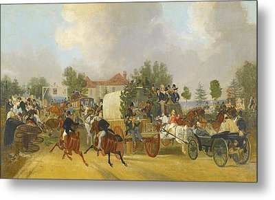 A Trip To Epsom Metal Print by Celestial Images