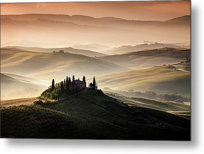 A Tuscan Country Landscape Metal Print