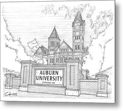 Metal Print featuring the drawing A U by Calvin Durham