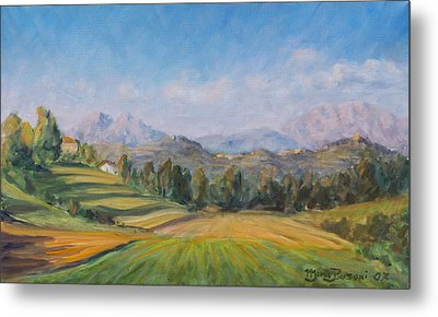 A Valley In Brianza Metal Print by Marco Busoni