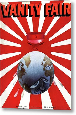 A Vanity Fair Cover Depicting The Rise Of Japan Metal Print by Paolo Garretto