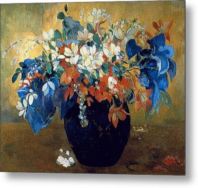 A Vase Of Flowers Metal Print by Paul Gauguin