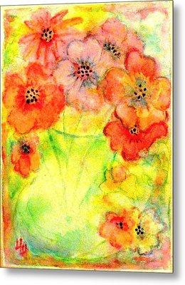 A Vaseful Of Sunshine Metal Print by Hazel Holland
