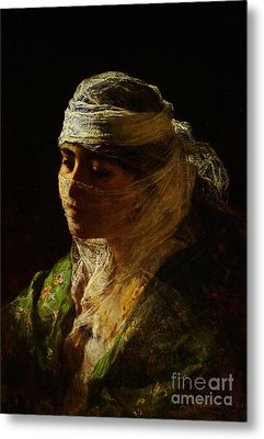 A Veiled Beauty Of Constantinople Metal Print