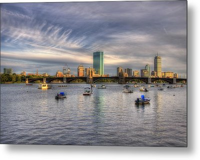 A View Of Back Bay - Boston Skyline Metal Print by Joann Vitali