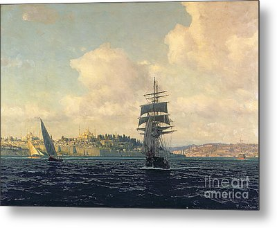 A View Of Constantinople Metal Print by Michael Zeno Diemer
